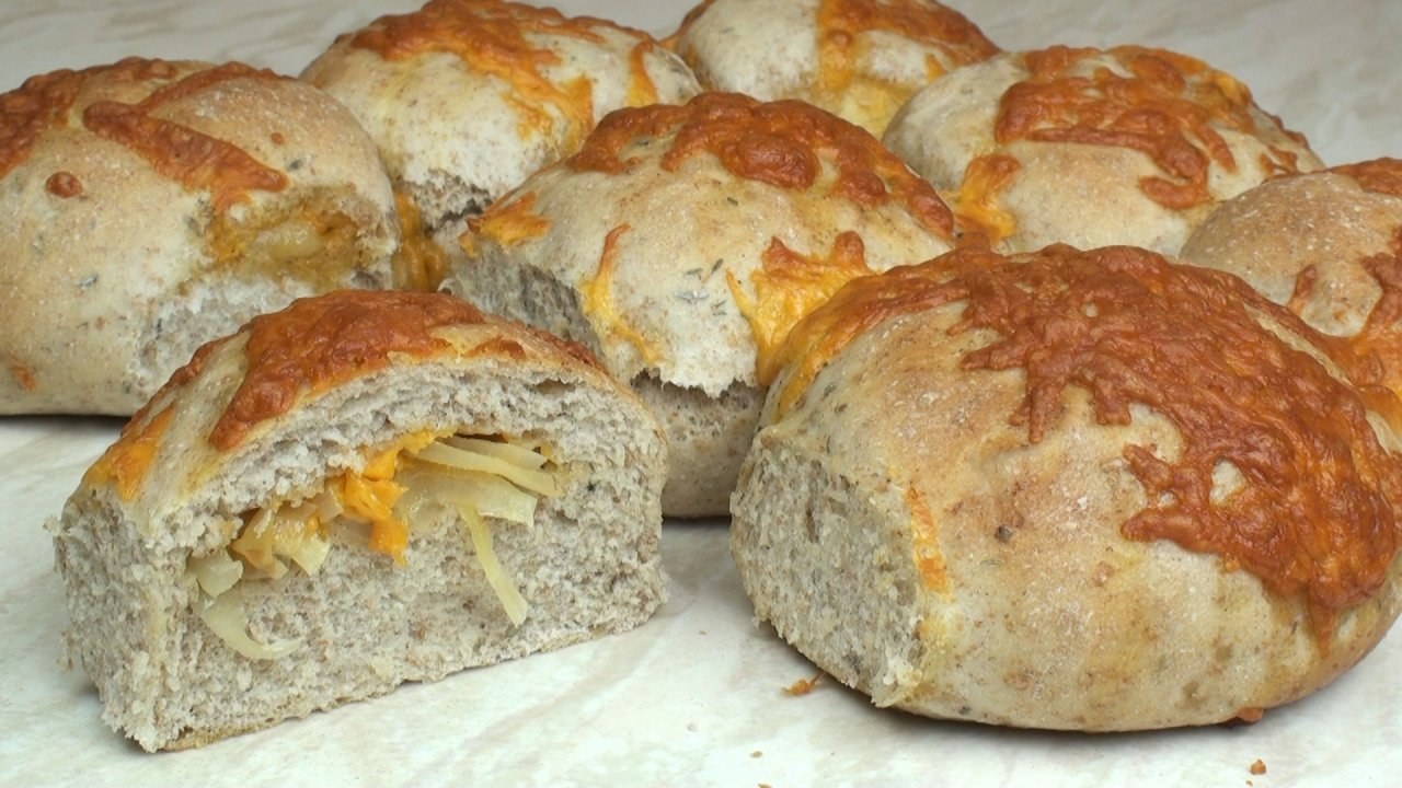 Cheese Amp Onion Stuffed Rolls Recipe The Bread Kitchen