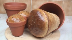 Garlic & Herb Flowerpot Bread